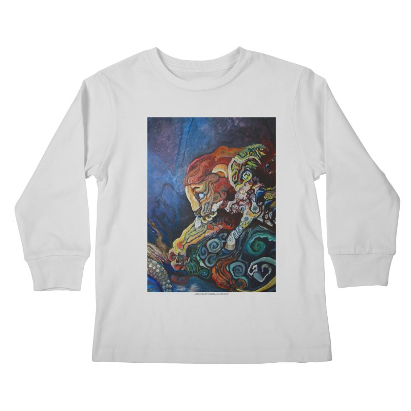 The Lion and The Lamb Kids Longsleeve T-Shirt by Every Drop's An Idea's Artist Shop