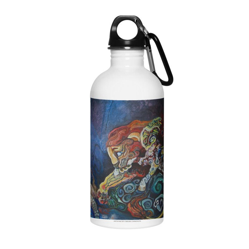 The Lion and The Lamb Accessories Water Bottle by Every Drop's An Idea's Artist Shop