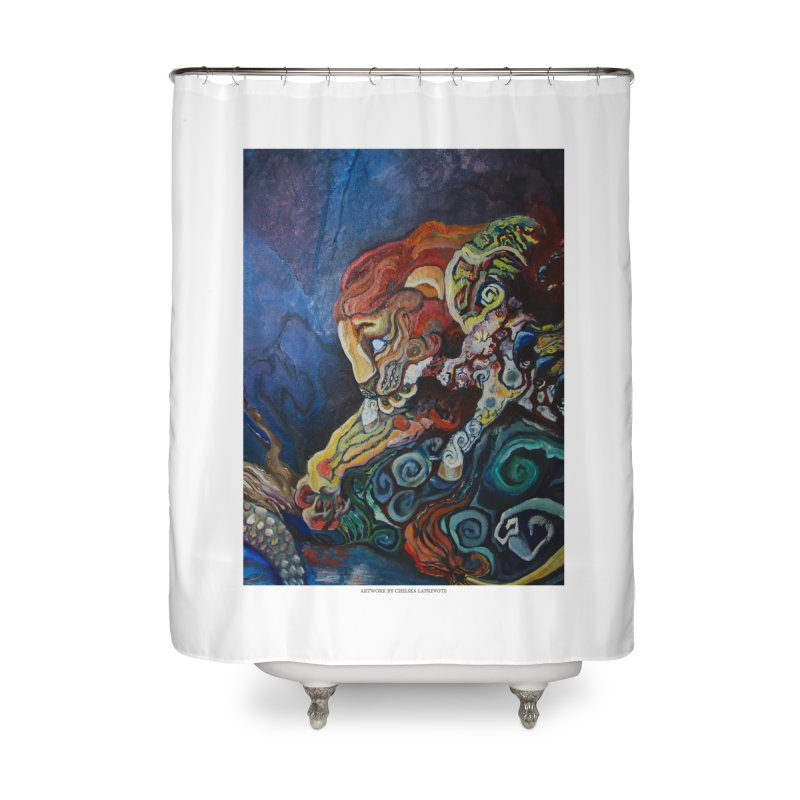 The Lion and The Lamb Home Shower Curtain by Every Drop's An Idea's Artist Shop