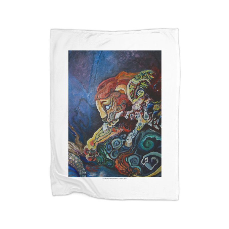 The Lion and The Lamb Home Fleece Blanket by Every Drop's An Idea's Artist Shop