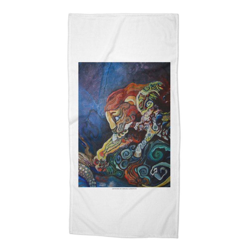 The Lion and The Lamb Accessories Beach Towel by Every Drop's An Idea's Artist Shop
