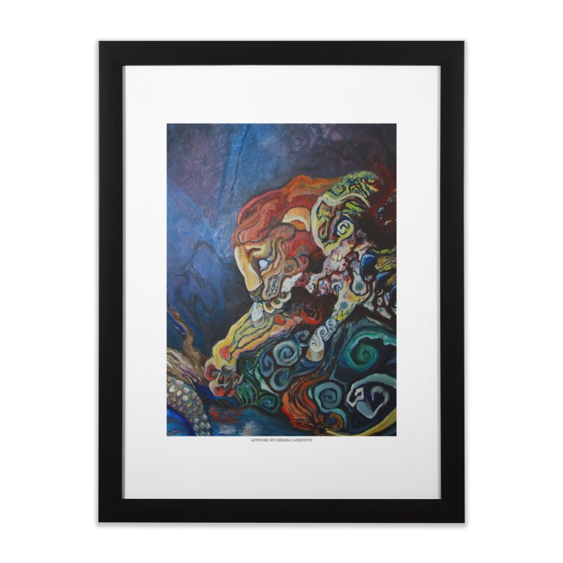 The Lion and The Lamb Home Framed Fine Art Print by Every Drop's An Idea's Artist Shop