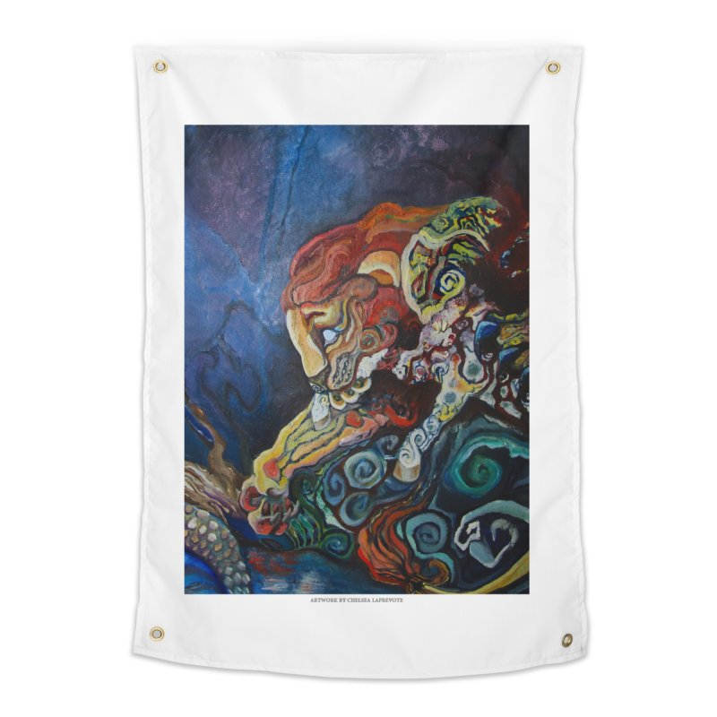 The Lion and The Lamb Home Tapestry by Every Drop's An Idea's Artist Shop