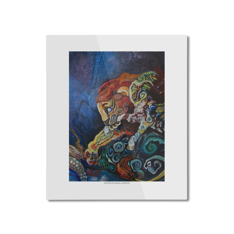 The Lion and The Lamb Home Mounted Aluminum Print by Every Drop's An Idea's Artist Shop
