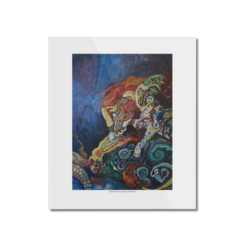 The Lion and The Lamb Home Mounted Acrylic Print by Every Drop's An Idea's Artist Shop