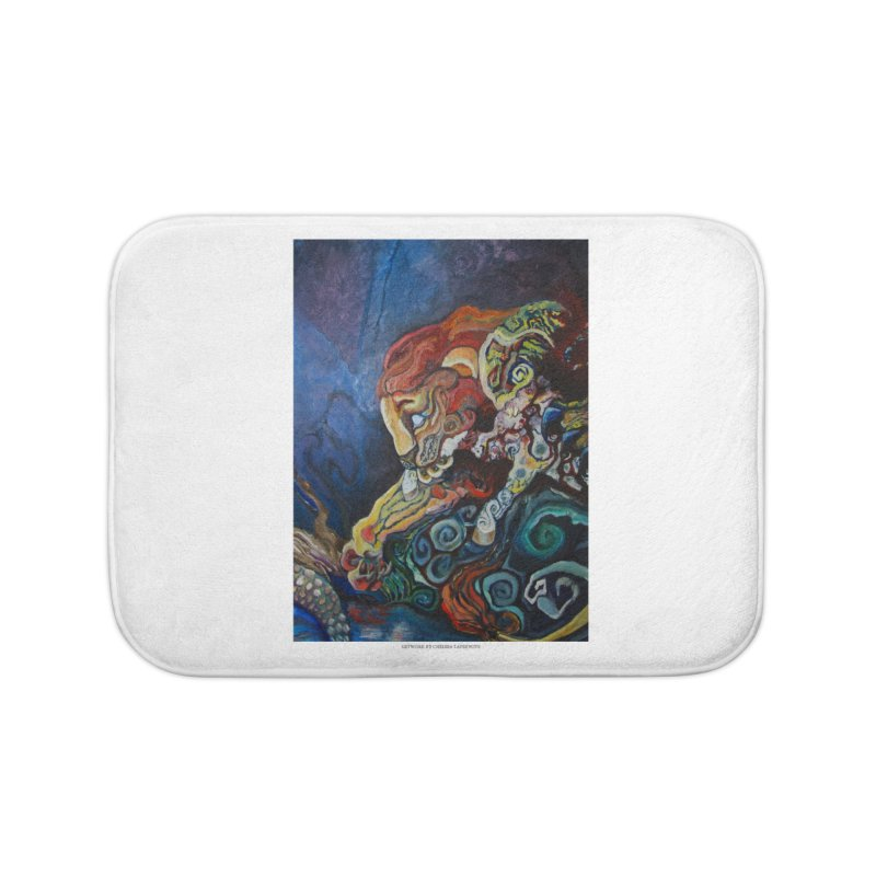 The Lion and The Lamb Home Bath Mat by Every Drop's An Idea's Artist Shop
