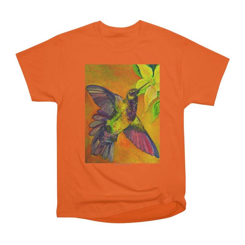 The Hummingbird and Flower Women's Classic Unisex T-Shirt by Every Drop's An Idea's Artist Shop