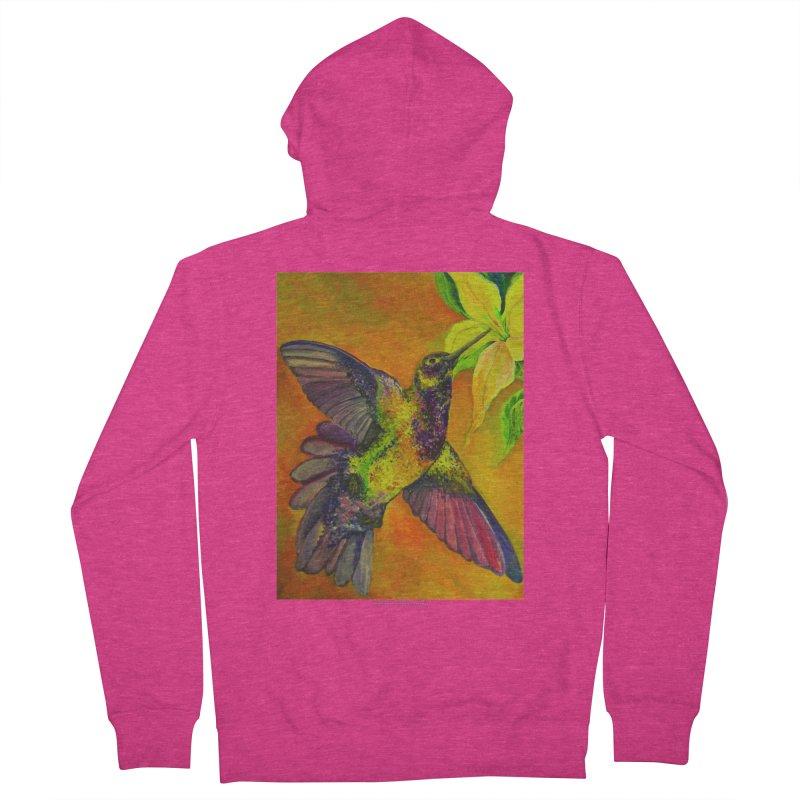 The Hummingbird and Flower Women's Zip-Up Hoody by Every Drop's An Idea's Artist Shop