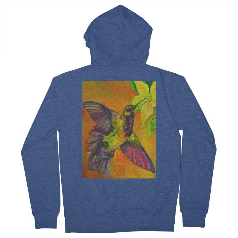 The Hummingbird and Flower Men's Zip-Up Hoody by Every Drop's An Idea's Artist Shop