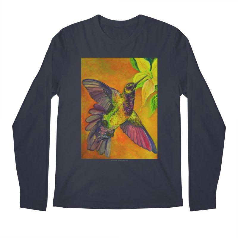 The Hummingbird and Flower Men's Longsleeve T-Shirt by Every Drop's An Idea's Artist Shop