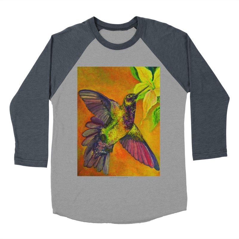 The Hummingbird and Flower Women's Baseball Triblend T-Shirt by Every Drop's An Idea's Artist Shop