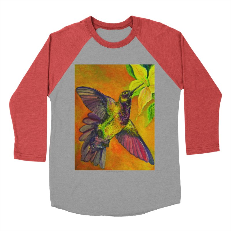 The Hummingbird and Flower Men's Baseball Triblend T-Shirt by Every Drop's An Idea's Artist Shop