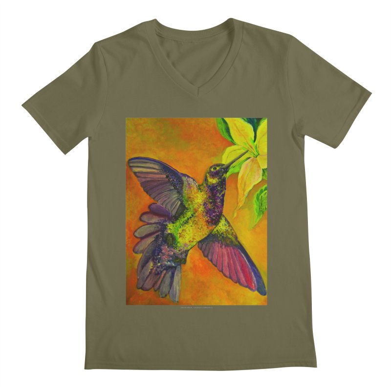 The Hummingbird and Flower Men's V-Neck by Every Drop's An Idea's Artist Shop