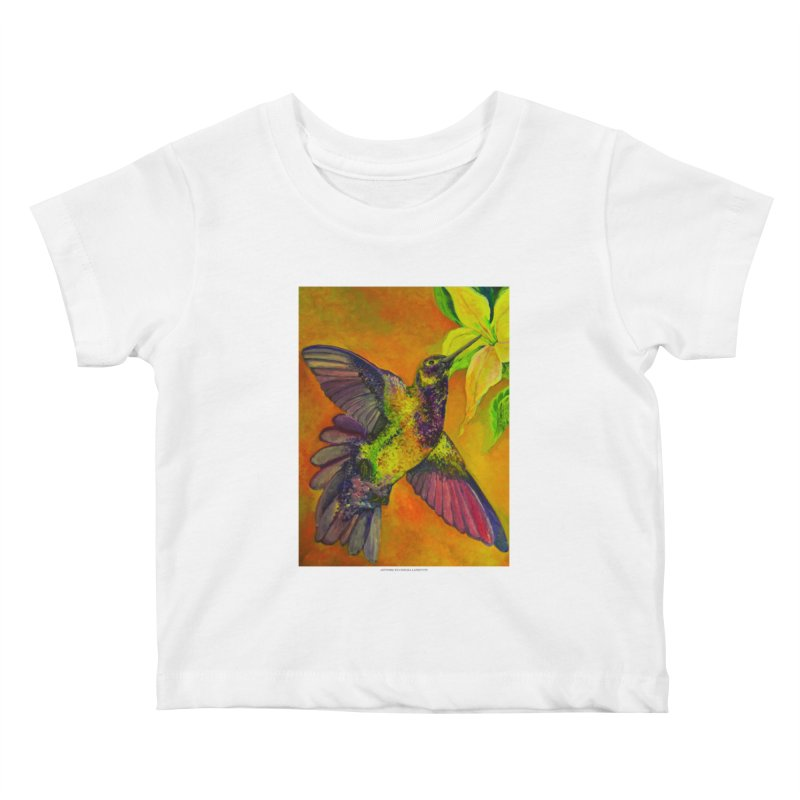 The Hummingbird and Flower Kids Baby T-Shirt by Every Drop's An Idea's Artist Shop