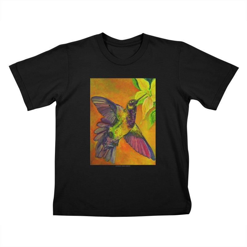The Hummingbird and Flower Kids T-Shirt by Every Drop's An Idea's Artist Shop
