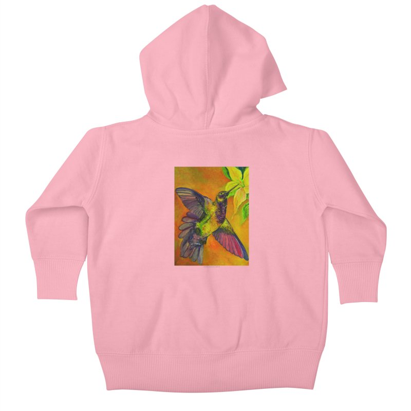 The Hummingbird and Flower Kids Baby Zip-Up Hoody by Every Drop's An Idea's Artist Shop