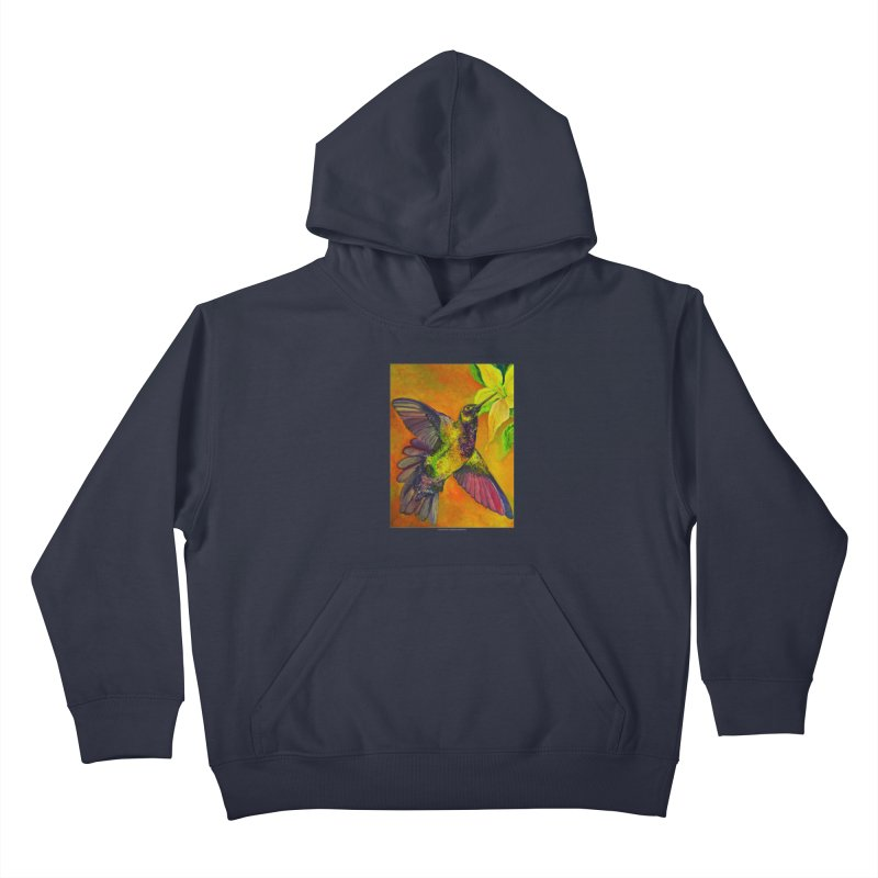 The Hummingbird and Flower Kids Pullover Hoody by Every Drop's An Idea's Artist Shop