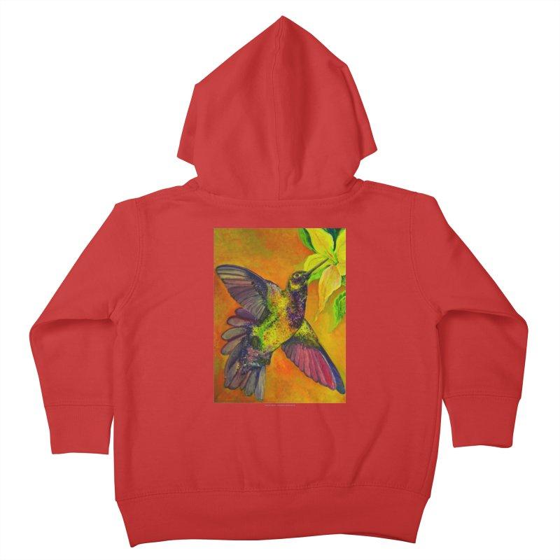 The Hummingbird and Flower Kids Toddler Zip-Up Hoody by Every Drop's An Idea's Artist Shop