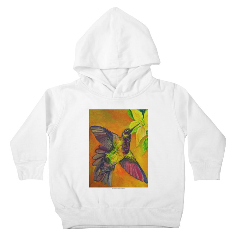 The Hummingbird and Flower Kids Toddler Pullover Hoody by Every Drop's An Idea's Artist Shop