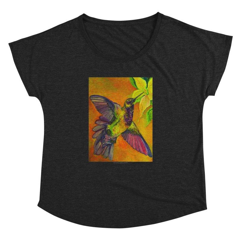 The Hummingbird and Flower Women's Dolman by Every Drop's An Idea's Artist Shop