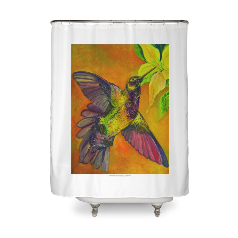 The Hummingbird and Flower Home Shower Curtain by Every Drop's An Idea's Artist Shop