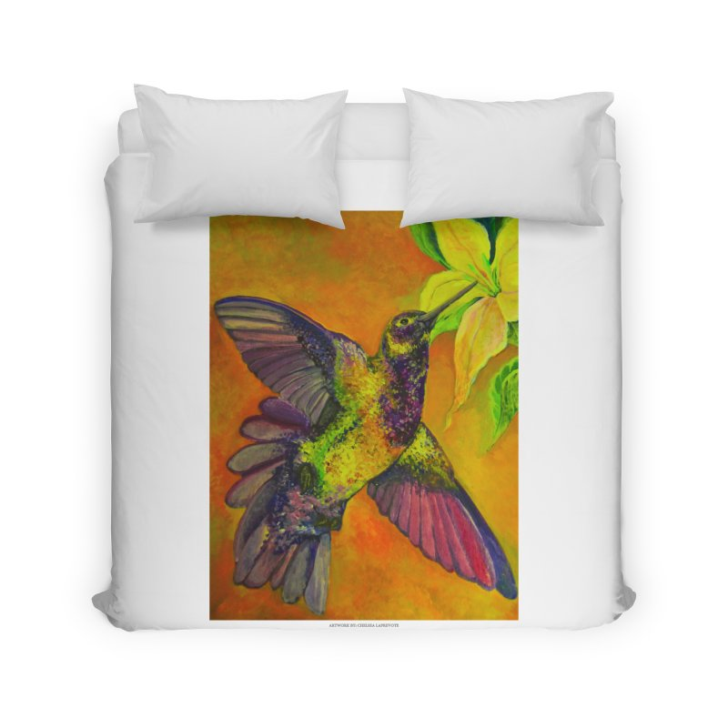 The Hummingbird and Flower Home Duvet by Every Drop's An Idea's Artist Shop