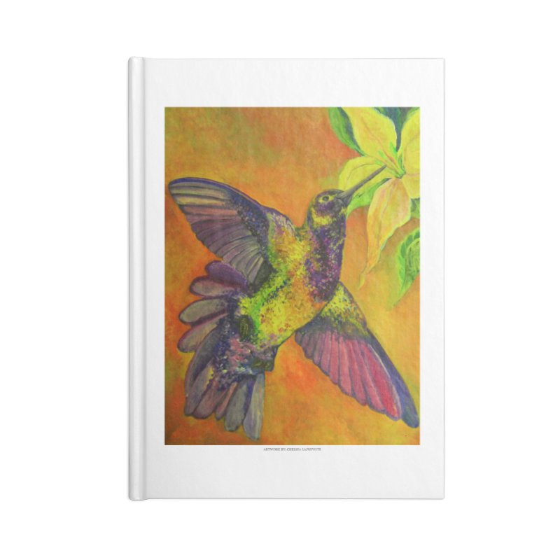 The Hummingbird and Flower Accessories Notebook by Every Drop's An Idea's Artist Shop