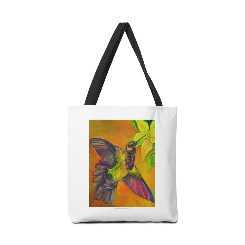 The Hummingbird and Flower Accessories Bag by Every Drop's An Idea's Artist Shop