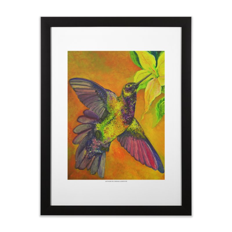 The Hummingbird and Flower in Framed Fine Art Print Black by Every Drop's An Idea's Artist Shop