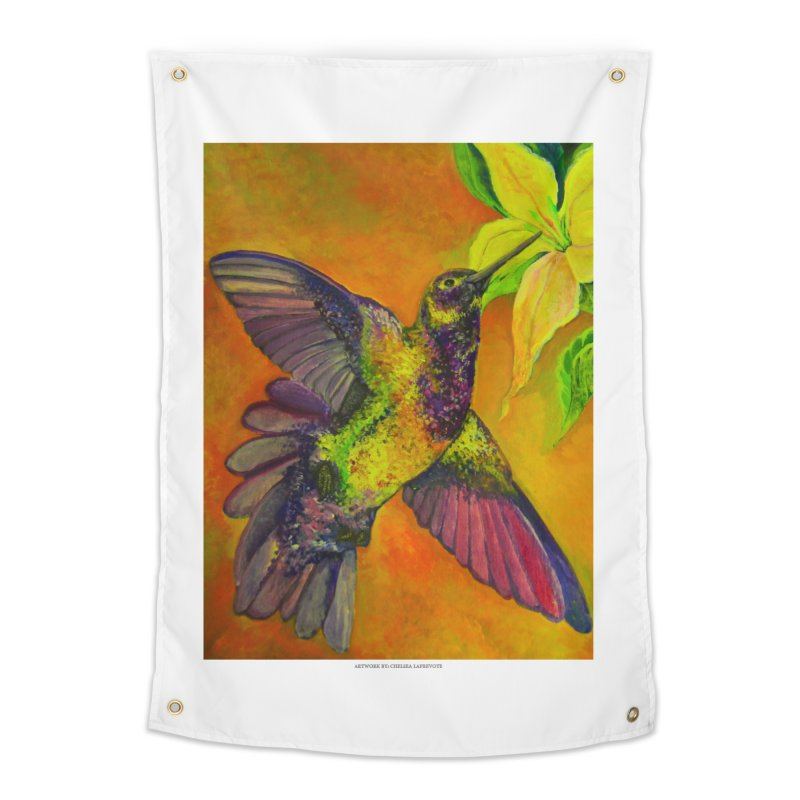 The Hummingbird and Flower Home Tapestry by Every Drop's An Idea's Artist Shop