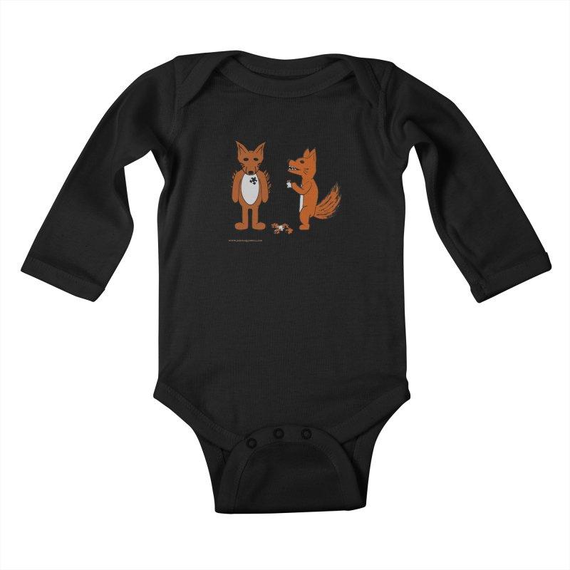 Fitting In Kids Baby Longsleeve Bodysuit by Every Drop's An Idea's Artist Shop