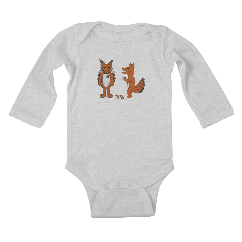 Fitting In Kids Baby Longsleeve Bodysuit by Every Drop's An Idea's Artist Shop