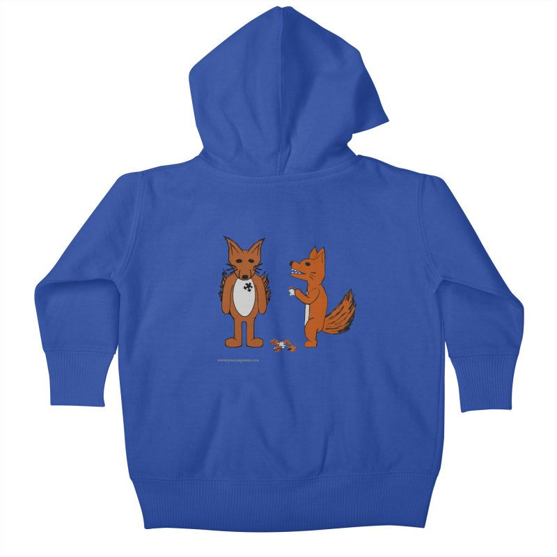 Fitting In Kids Baby Zip-Up Hoody by Every Drop's An Idea's Artist Shop