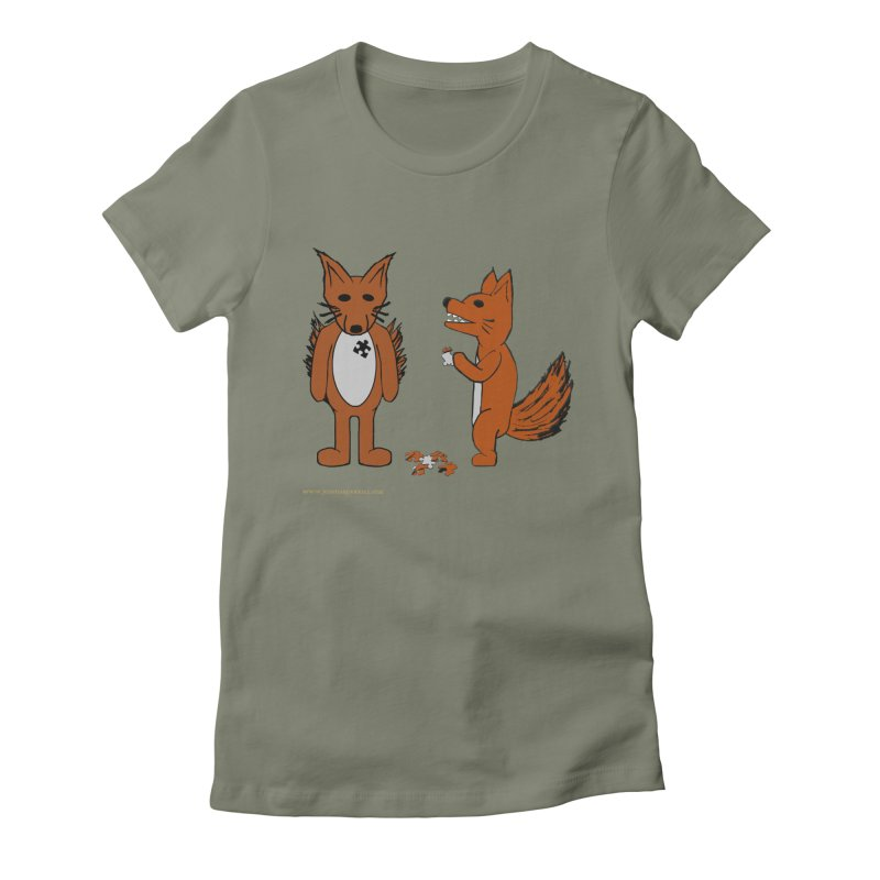 Fitting In Women's Fitted T-Shirt by Every Drop's An Idea's Artist Shop