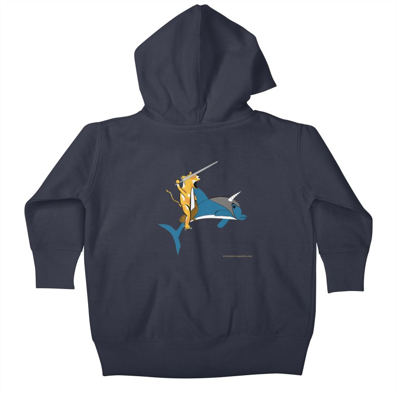 Ride Into The Sun Kids Baby Zip-Up Hoody by Every Drop's An Idea's Artist Shop