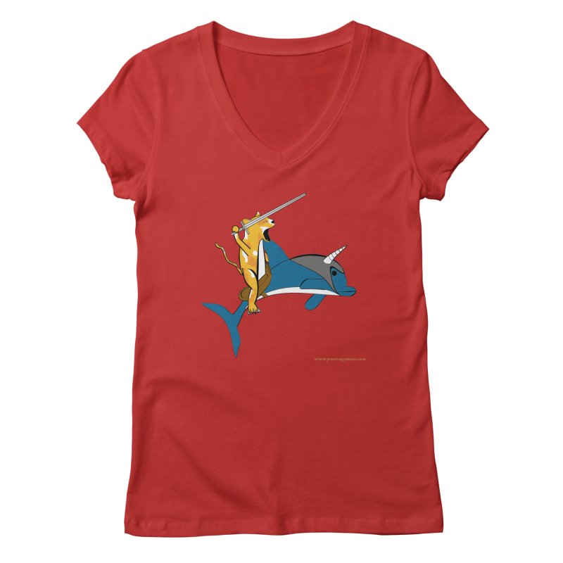 Ride Into The Sun Women's V-Neck by Every Drop's An Idea's Artist Shop