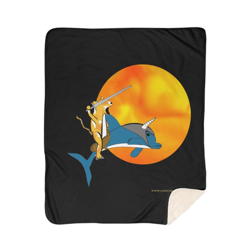 Ride Into The Sun (Sun Version) Home Sherpa Blanket Blanket by Every Drop's An Idea's Artist Shop