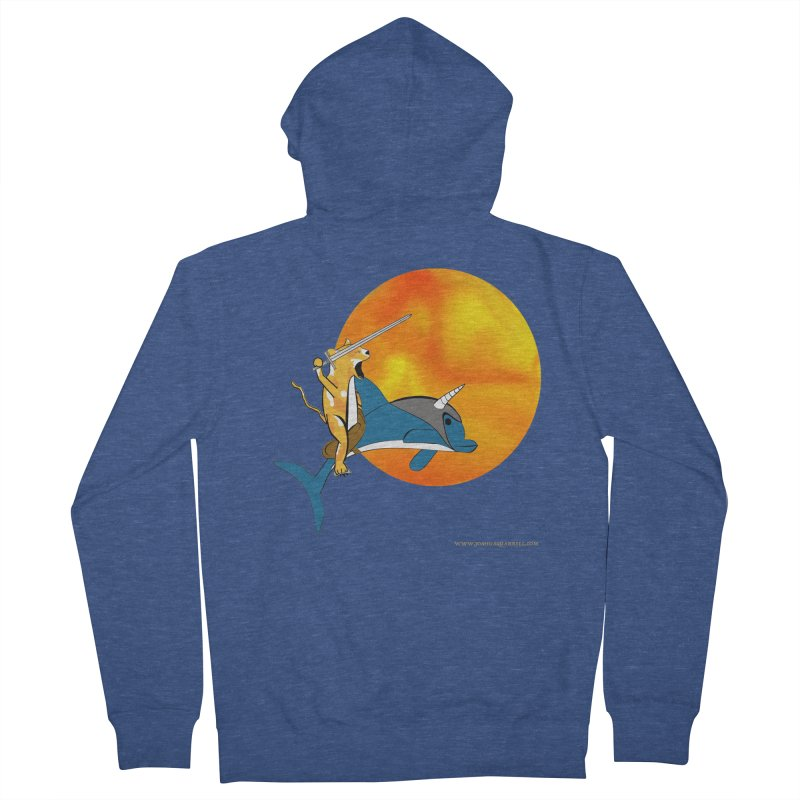 Ride Into The Sun (Sun Version) Women's French Terry Zip-Up Hoody by Every Drop's An Idea's Artist Shop