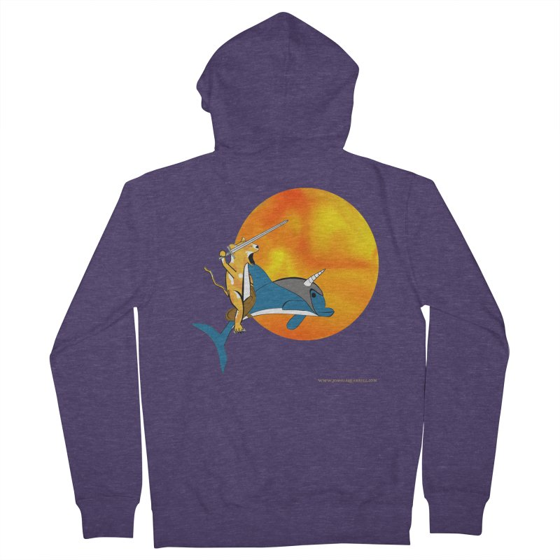 Ride Into The Sun (Sun Version) Men's French Terry Zip-Up Hoody by Every Drop's An Idea's Artist Shop