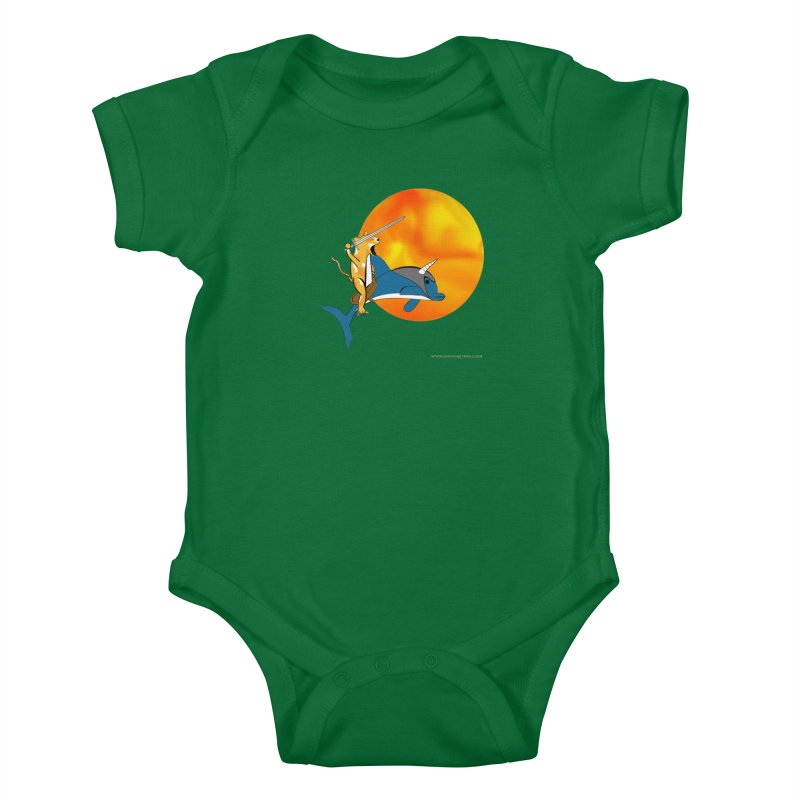 Ride Into The Sun (Sun Version) Kids Baby Bodysuit by Every Drop's An Idea's Artist Shop
