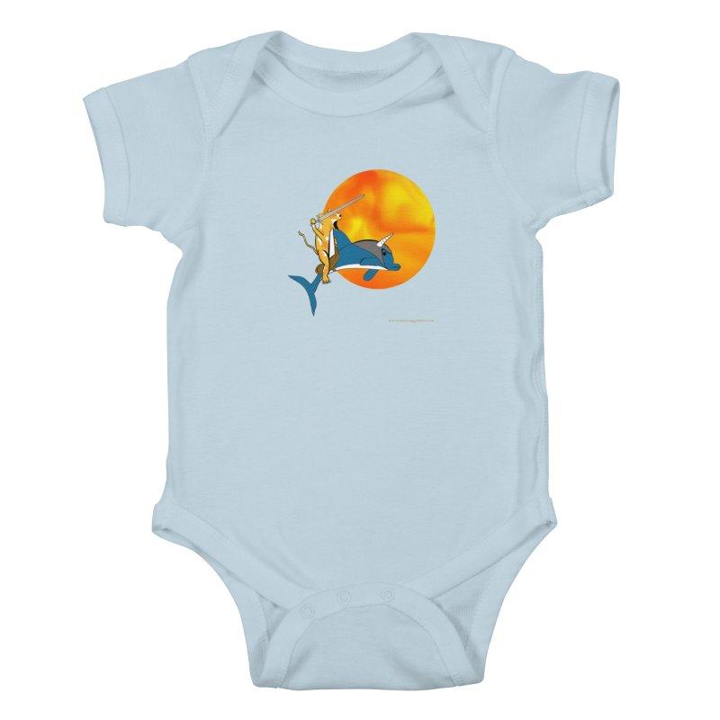 Ride Into The Sun (Sun Version) Kids Baby Bodysuit by Every Drop's An Idea's Artist Shop