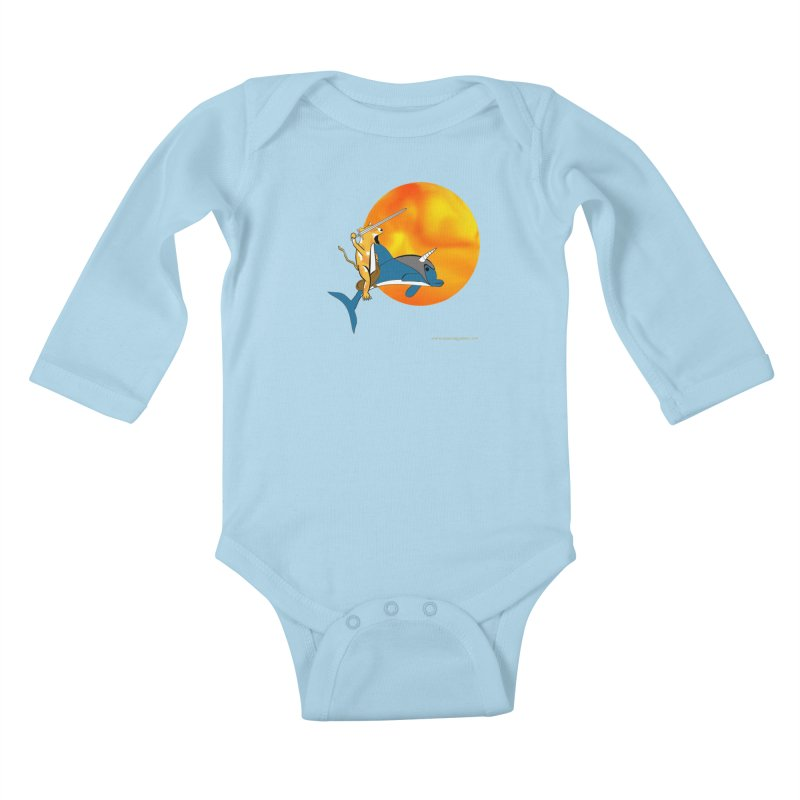 Ride Into The Sun (Sun Version) Kids Baby Longsleeve Bodysuit by Every Drop's An Idea's Artist Shop