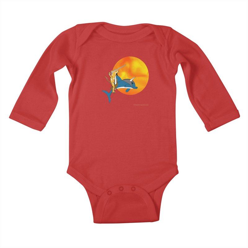 Ride Into The Sun (Sun Version) Kids Baby Longsleeve Bodysuit by Every Drop's An Idea's Artist Shop
