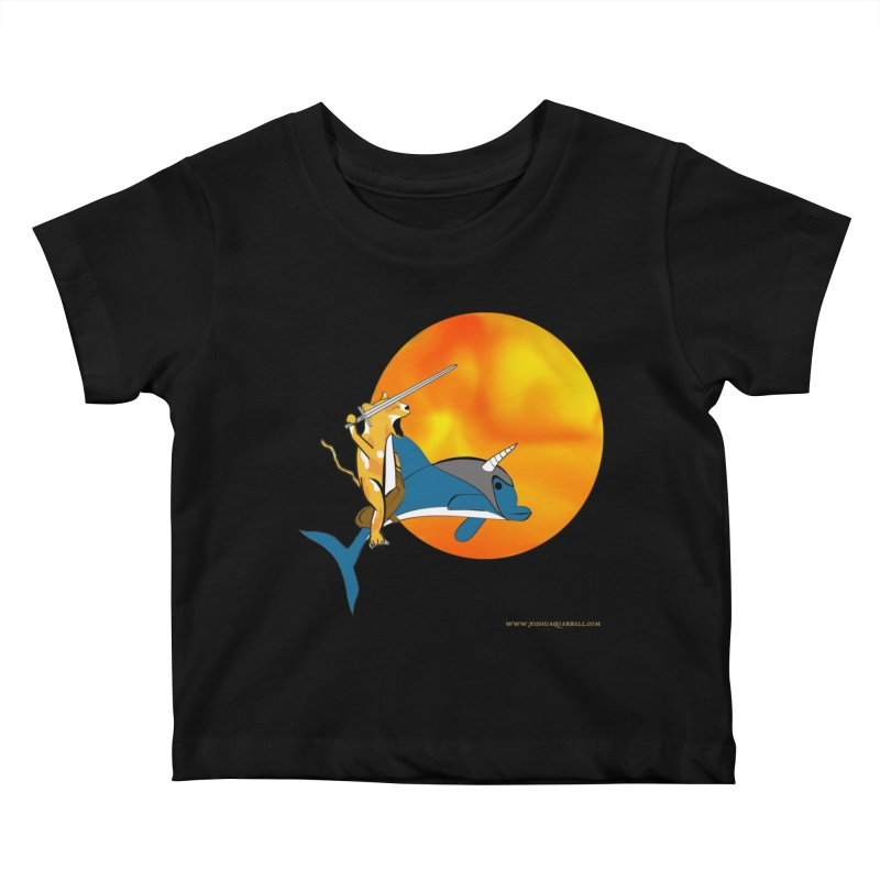 Ride Into The Sun (Sun Version) Kids Baby T-Shirt by Every Drop's An Idea's Artist Shop