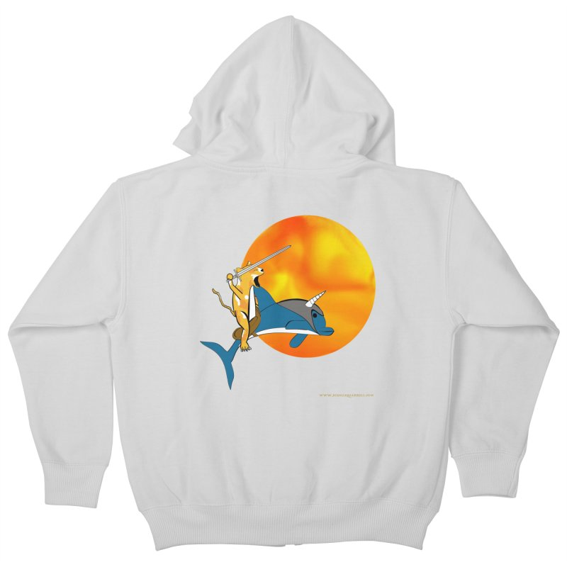 Ride Into The Sun (Sun Version) Kids Zip-Up Hoody by Every Drop's An Idea's Artist Shop