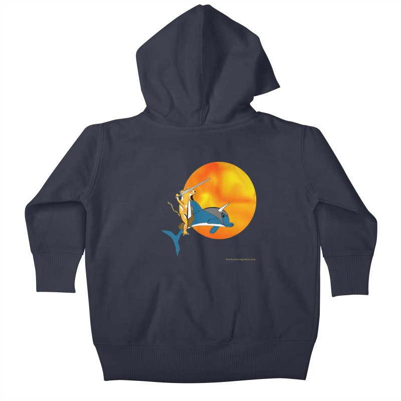 Ride Into The Sun (Sun Version) Kids Baby Zip-Up Hoody by Every Drop's An Idea's Artist Shop
