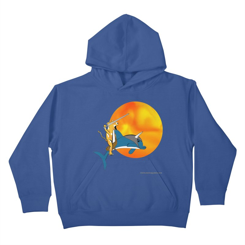 Ride Into The Sun (Sun Version) Kids Pullover Hoody by Every Drop's An Idea's Artist Shop