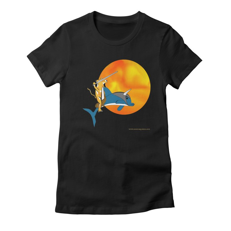 Ride Into The Sun (Sun Version) in Women's Fitted T-Shirt Black by Every Drop's An Idea's Artist Shop