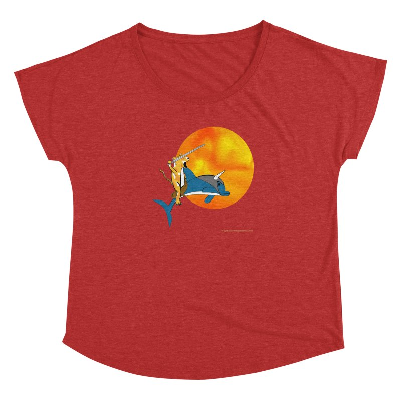 Ride Into The Sun (Sun Version) Women's Dolman Scoop Neck by Every Drop's An Idea's Artist Shop