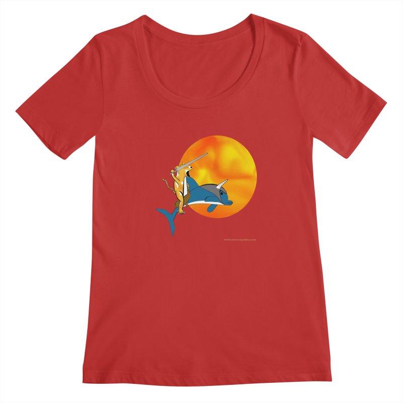 Ride Into The Sun (Sun Version) Women's Regular Scoop Neck by Every Drop's An Idea's Artist Shop
